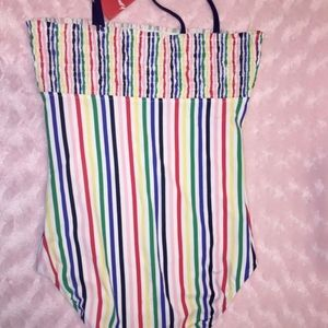 NEW Hanna Andersson Smocked Swimsuit 160 14-16 1PC